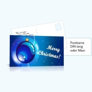 Weihnachtskarten Mailing DIN-lang 210x100mm / 210x105mm inkl. Offsetdruck & Lettershop