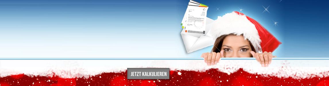 Weihnachtsmailing online kalkulieren